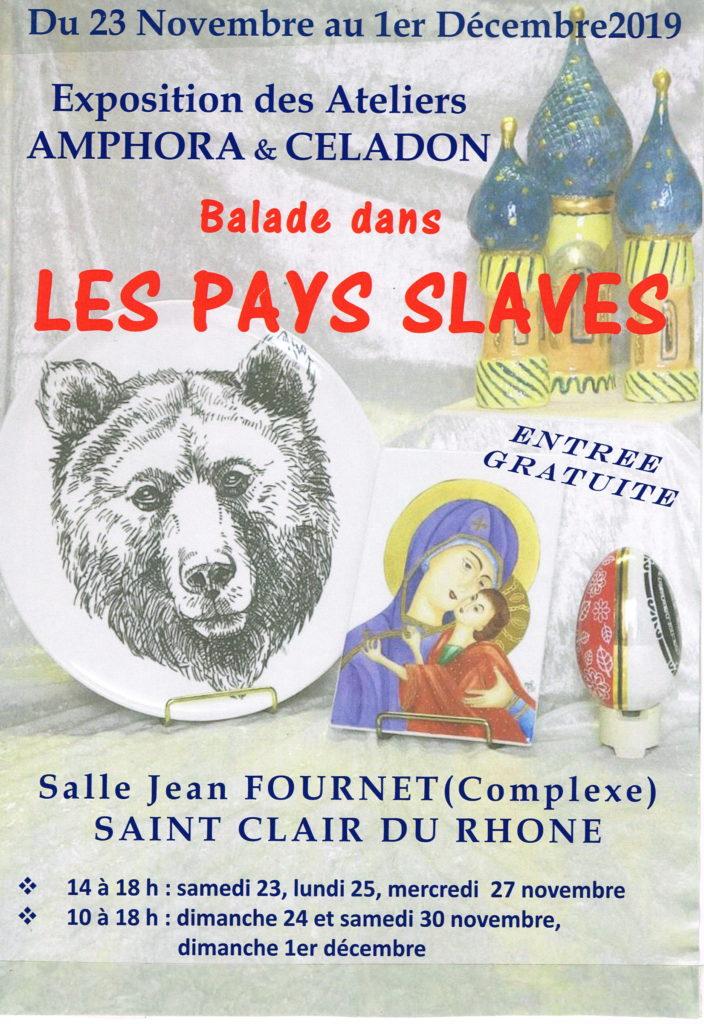 """Exposition AMPHORA-CELADON ~ """"Les Pays Slaves"""" @ Espace Jeaun Fournet"""