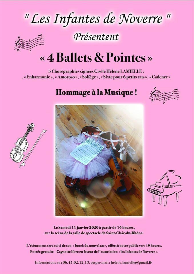 """Les Infantes de Noverre présentent """"4 Ballets & Pointes"""" @ Salle de Spectacles Mairie"""